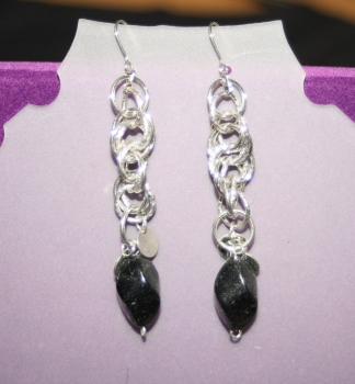Dangling Silver Chains with Black Detailing