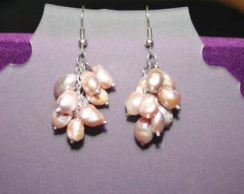 Seed Pearl Cluster Earrings