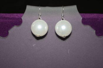 Large Faux Pearl Earrings