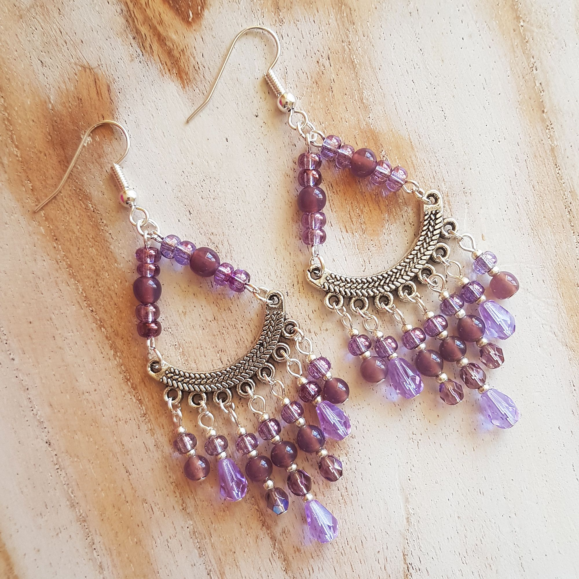 Violet Chandelier Earrings