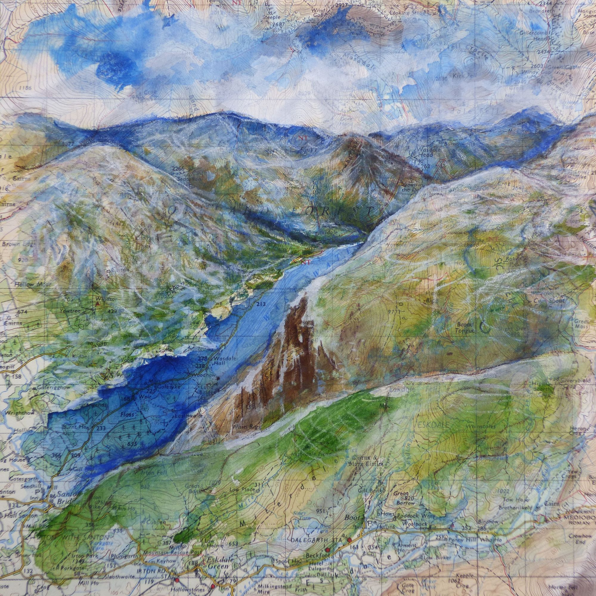 Wast Water painting