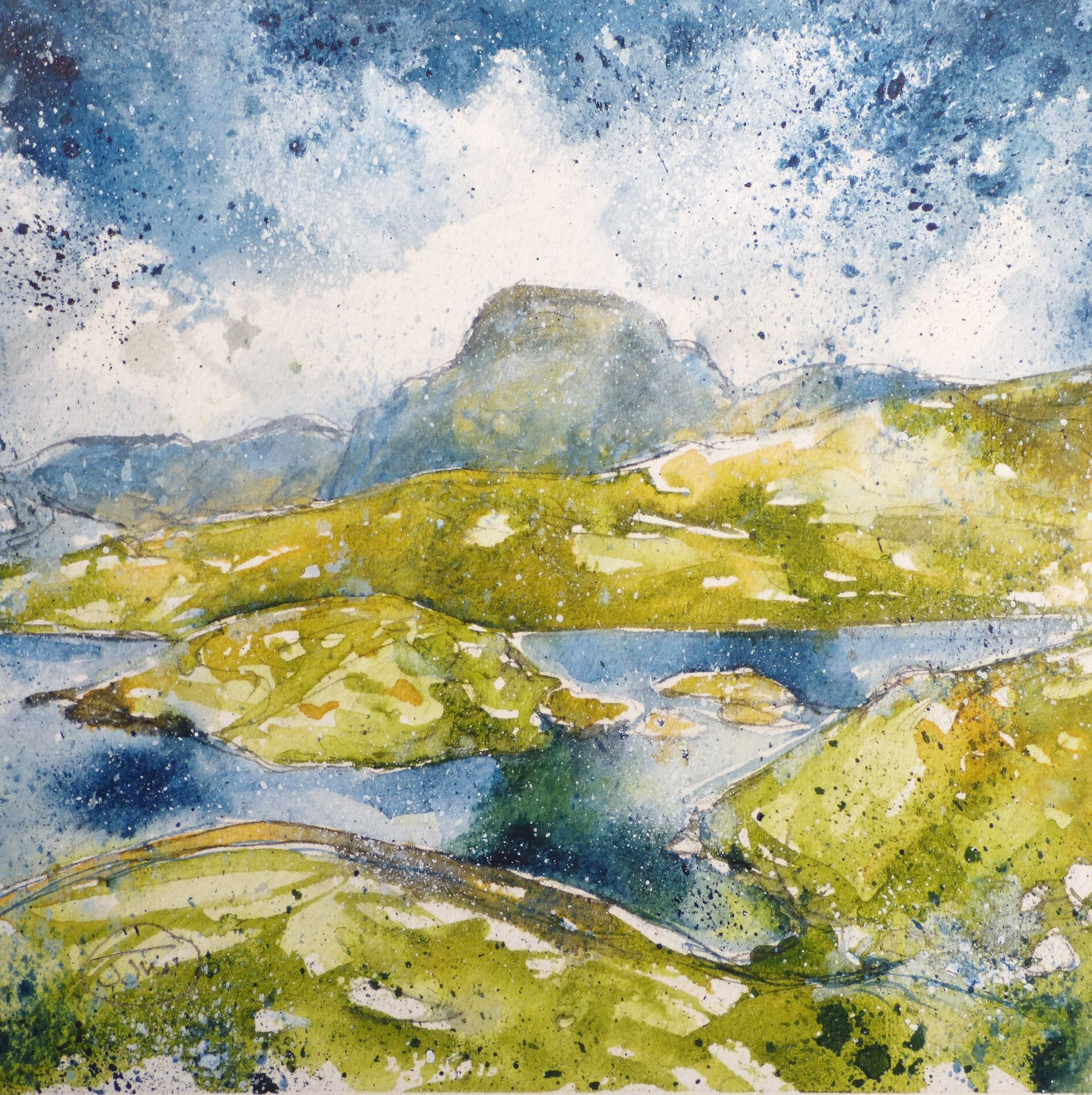 Sprinkling Tarn and Great Gable £140