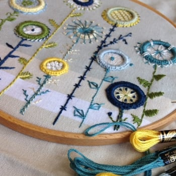 Creative hand embroidery rings