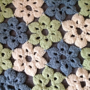 Join as you go crochet flowers