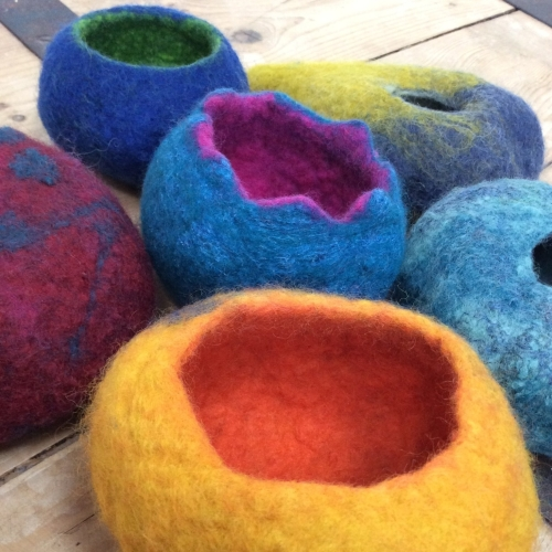 Felted 3D Vessels