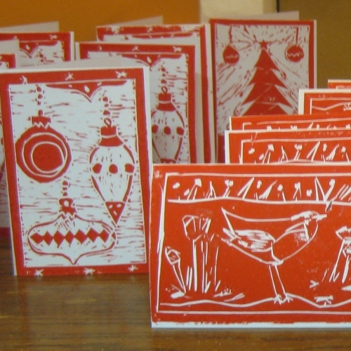 Lino print a festive stamp - Wednesday 7th December 10am to 1pm