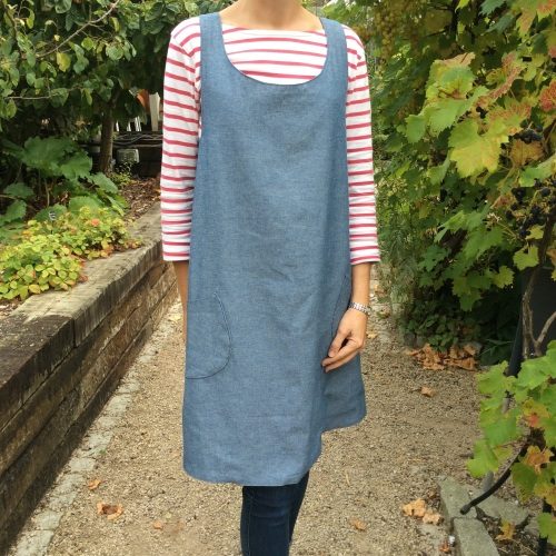 Dressmaking - Cross over apron dress