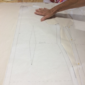 Pattern cutting - A dress - Various dates and times