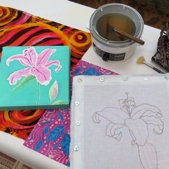 *NEW* Introduction to Batik and wax resist fabric printing and dying