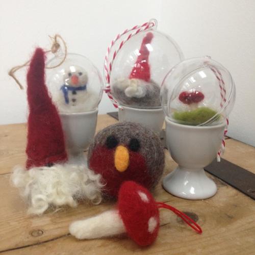 Christmas - Festive needle felting - Thursday 9th & 16th November  9:30am t