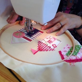 Free motion embroidery workshop