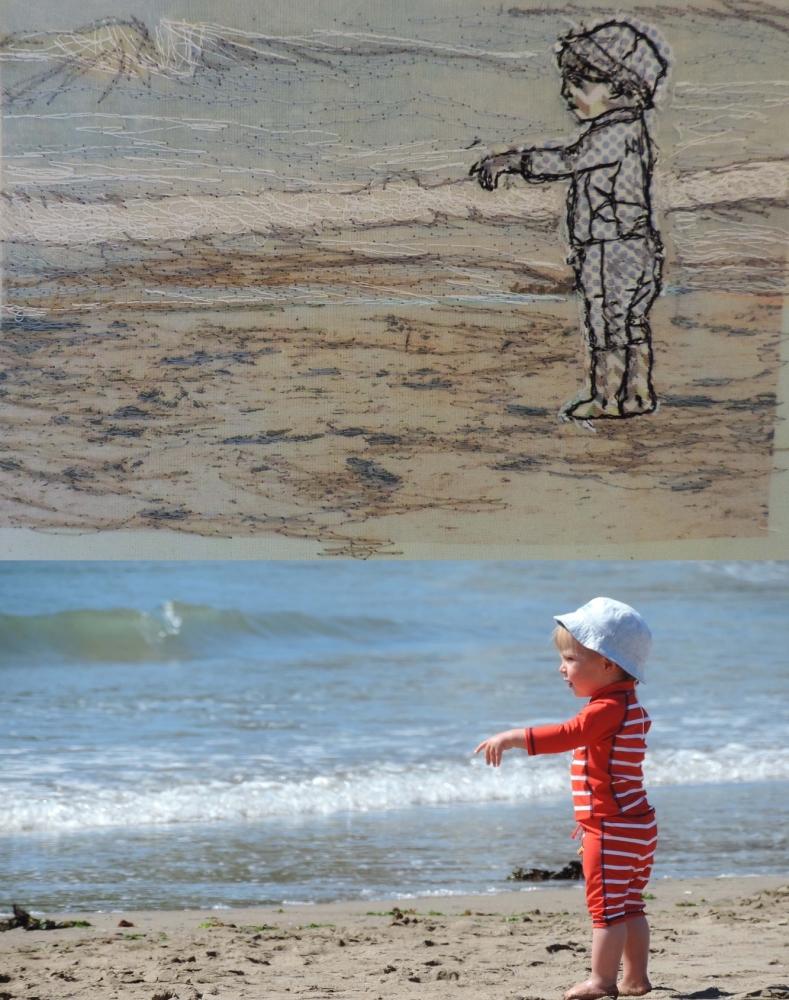 Free motion textile illustration