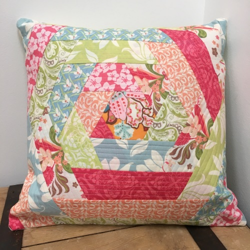 Patchwork Flip and Stitch cushion - Friday 20th April 2018