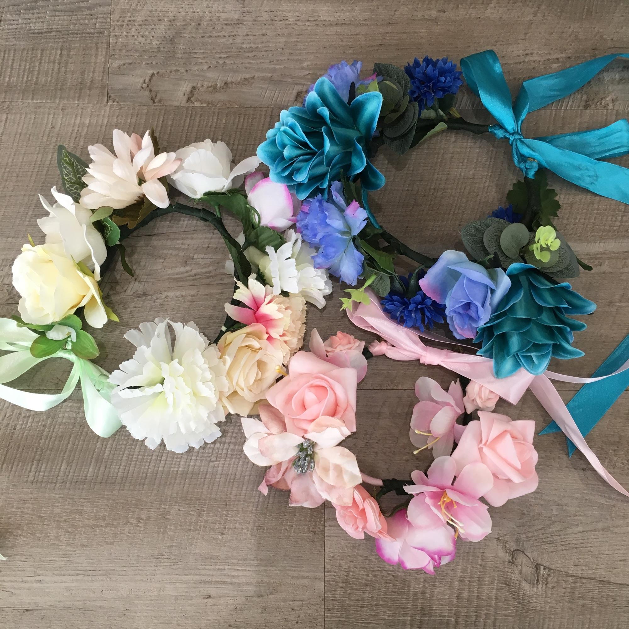 flower crown flatlay
