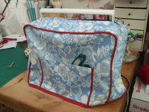 Sewing machine cover zip