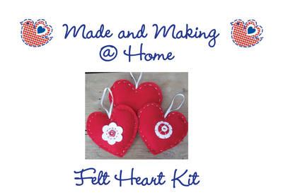 Felt Heart Kit - Makes 3