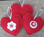 Felt Heart Kit - Makes 3