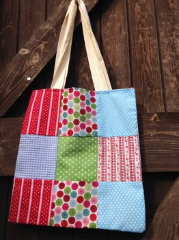 Children's Learn to Sew - Patchwork Tote - Wednesday 30th August 9:30am to 12:30pm