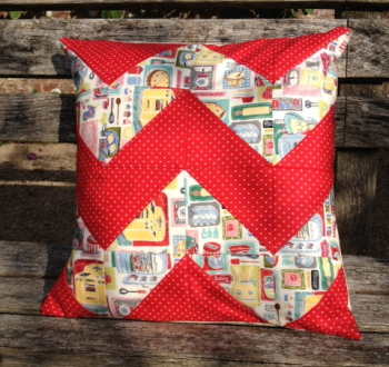 An introduction to patchwork -  Chevron Cushion