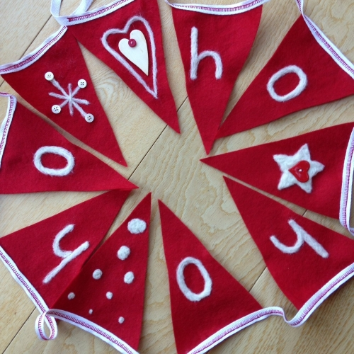 Christmas - Festive needle felted bunting - Wednesday 3rd December 7-9pm