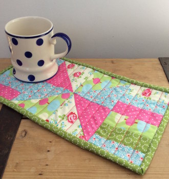 An introduction to patchwork and quilting - make a mug rug