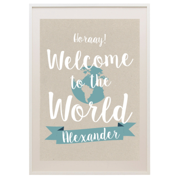 PERSONALISED WELCOME TO THE WORLD PRINT