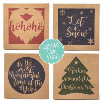 CHRISTMAS CARDS - SET OF 4