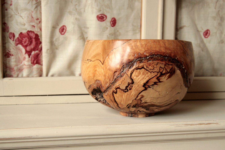 Woodturned Natural Bespoke Wooden Bowls