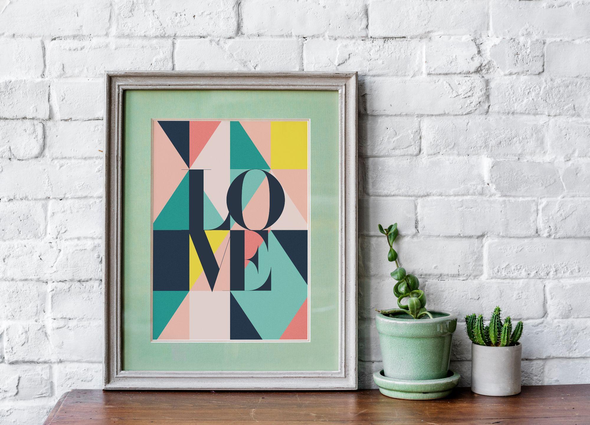 Geometric bold and bright art