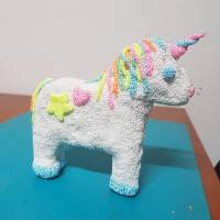 foam clay unicorn