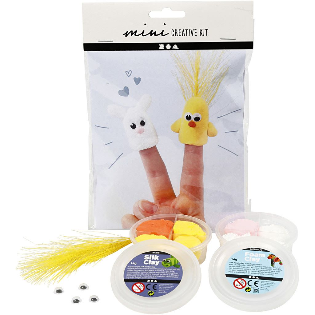 Silk clay finger puppet kit