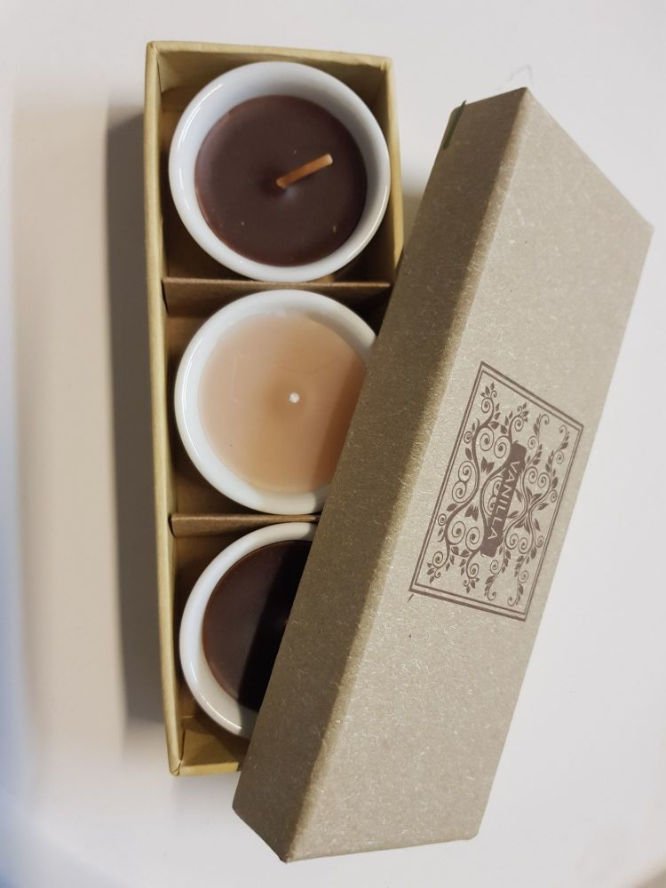 Set of 3 mini candles in gift box