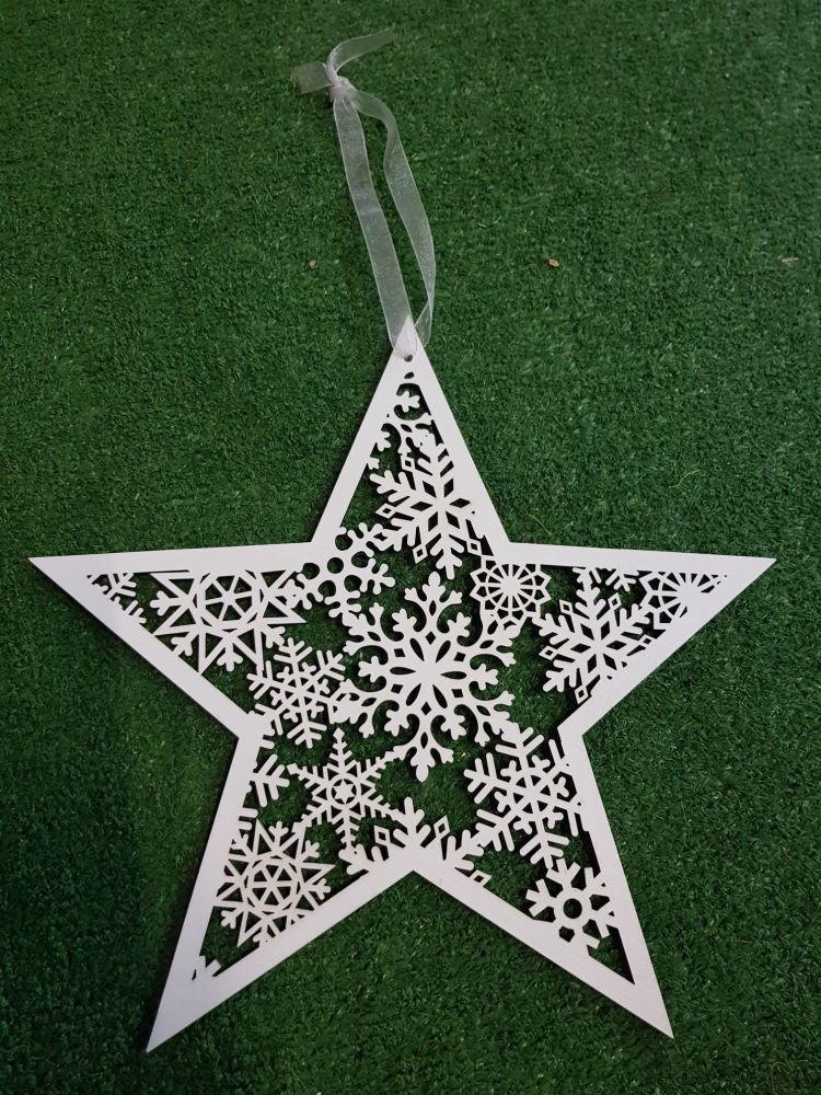 Large hanging snowflake star