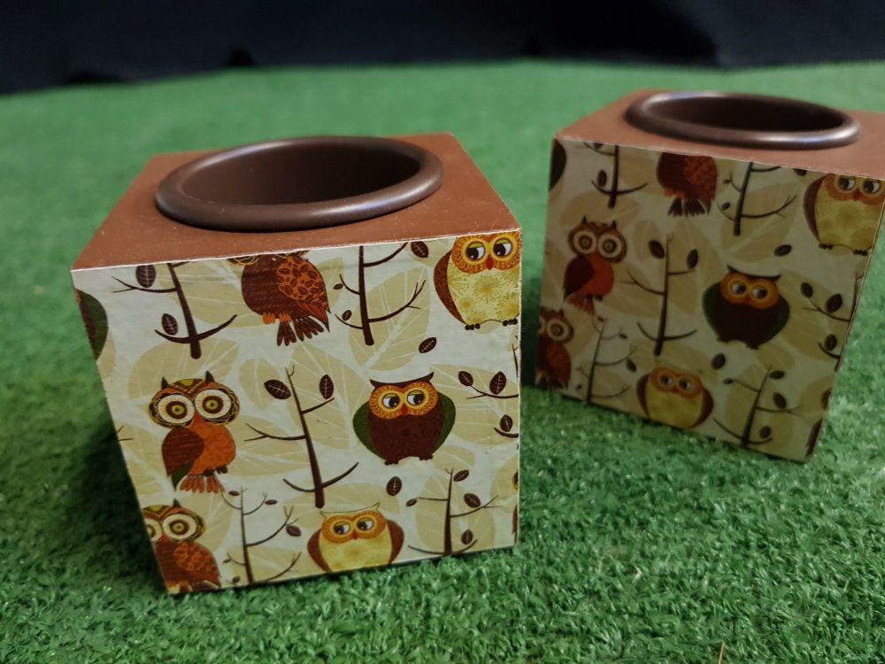 Owl tealight holder