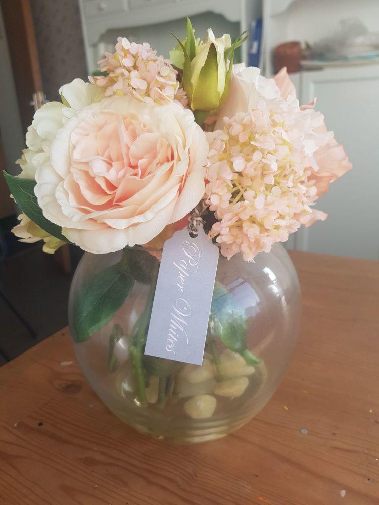 Large pink floral gift