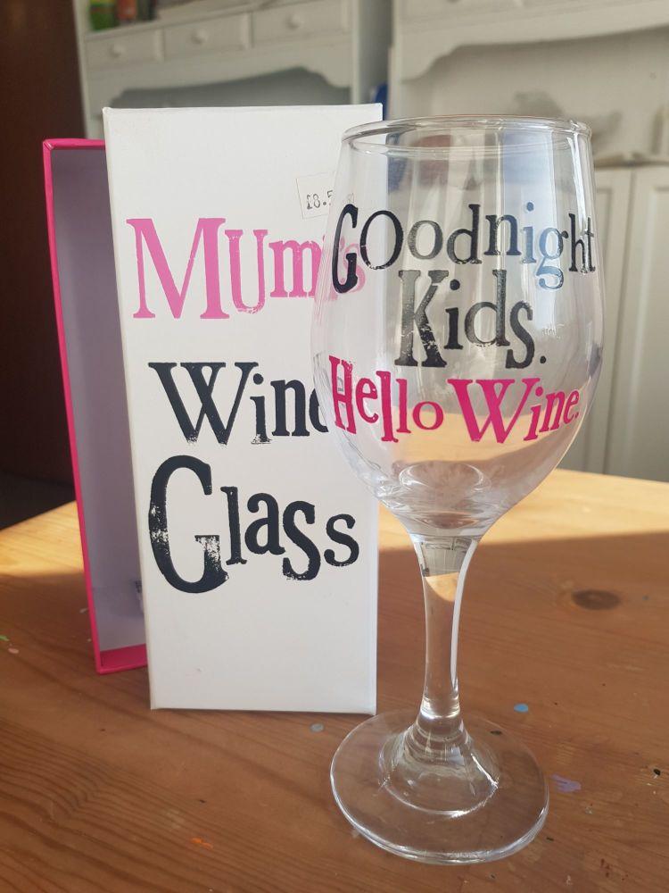 Mums wine glass