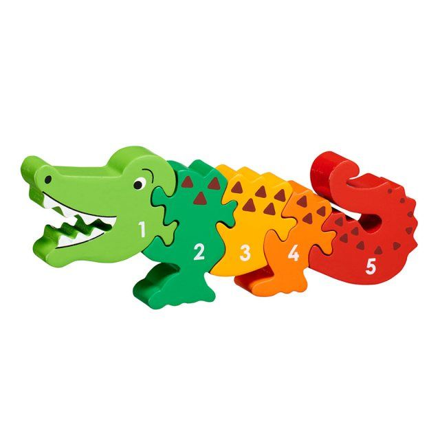 Crocodile number jigsaw