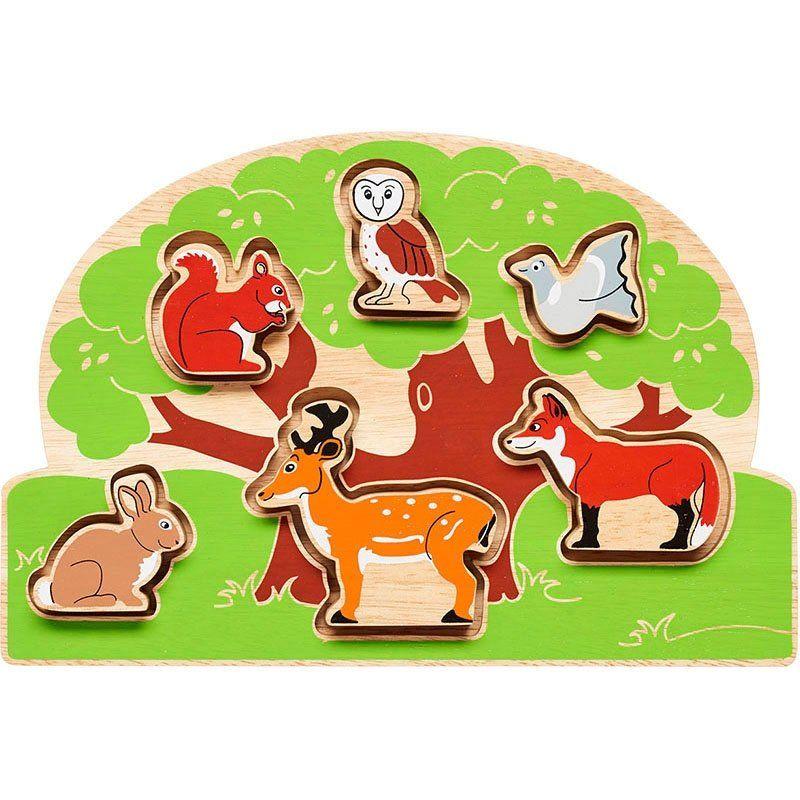Woodland animal shape sorter