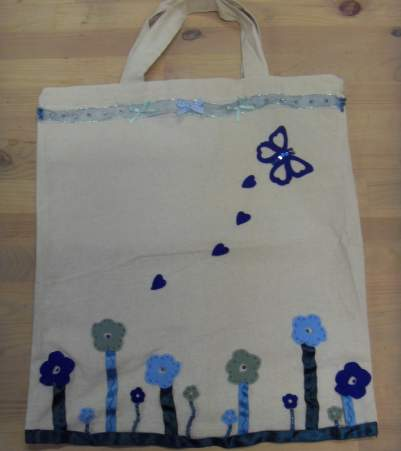 adults & teens creative birthday party decorate a cotton bag