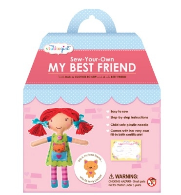 Sew your own doll - Red hair