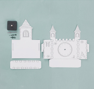 DIY Princess castle clock