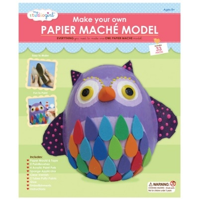 Paper mache owl kit