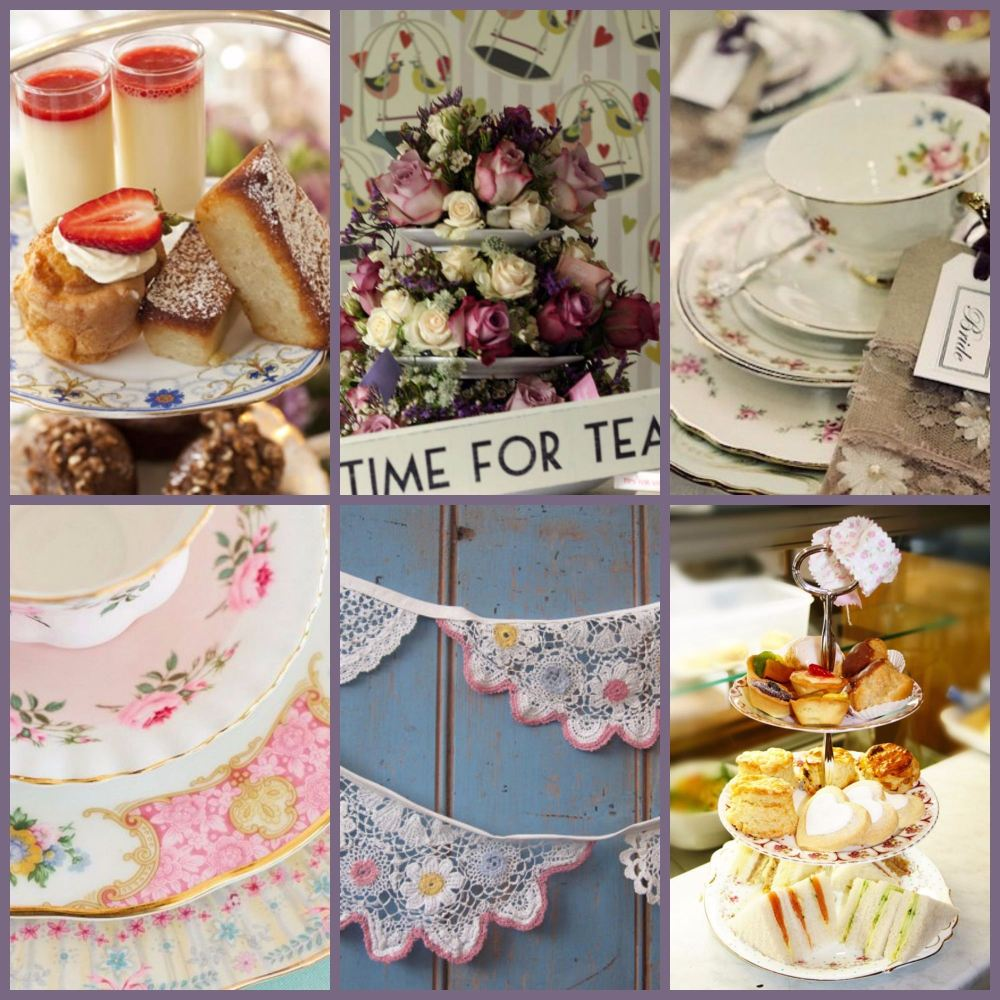wedding tea collage
