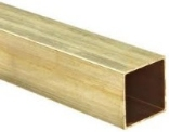 Square Section Brass Tube Unpolished