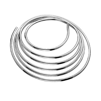 08mm x 1250mm Soft Copper Tube Chrome Plated