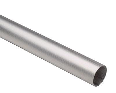 25mm x 250mm Satin Stainless Steel Tube 304 Grade