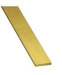 """1/2"""" x 1/8"""" x 500mm Unpolished Flat Brass Bar/Strip"""