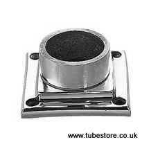 <!-- 004 --> 38mm Chrome Square Floor/Wall Flange