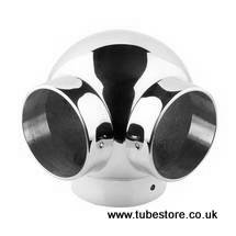 <!-- 005 --> 38mm Chrome Side Outlet Ball Elbow