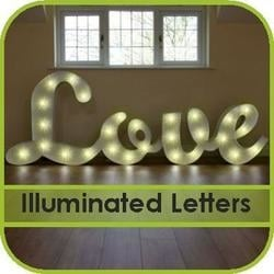 Illuminated Letter Hire Gloucestershire